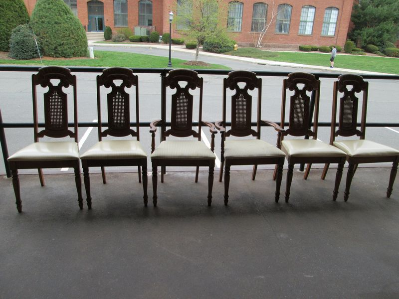 Nice Item # 5    Dining Room Set By Singer Furniture Division Incl 2pc Glass Top  Hutch, Oval Dining Table And Six Chairs.