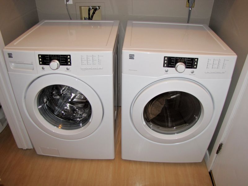 Item 101 Kenmore Front Load Washer And Dryer With Digital Controls In Excellent Condition Model Number Is 796 4117 The