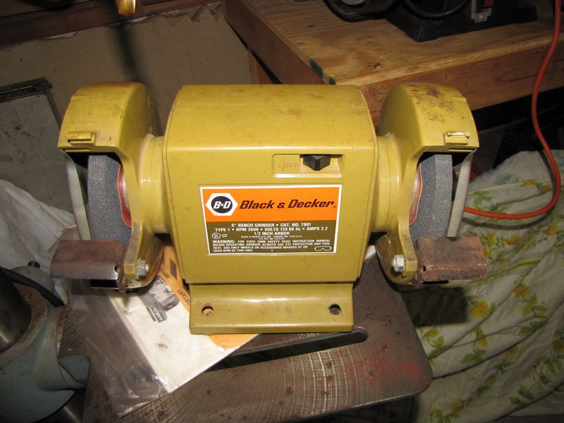 decker machinery including single large black shop bench central item absolute do search and phase equipment grinder sander belt servlet auctions sears a roebuck realty