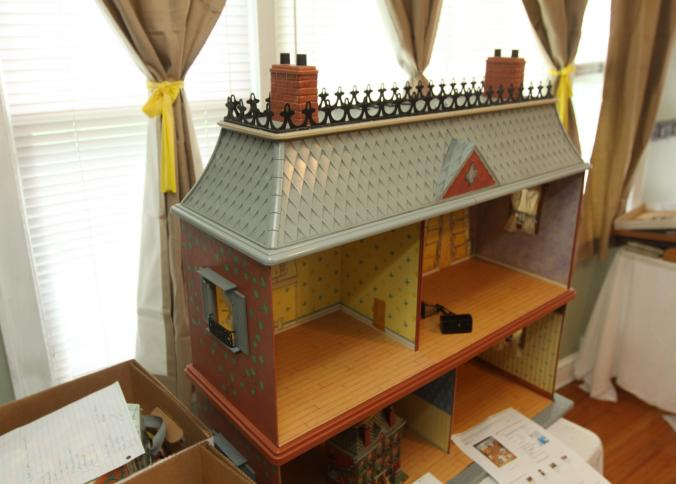 Item # 2    Madeline Dollhouse With Accessories And Dolls Incl Department  56 Story Brook Village Madelineu0027s Old House In Paris.