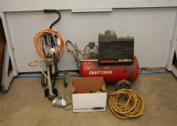 absolute auctions \u0026 realtyitem 8 wagner 505 high performance airless sprayer, model 0270011 ser c9400890 sears craftsman 20 gallon air compressor model 282 160232, also incl mac