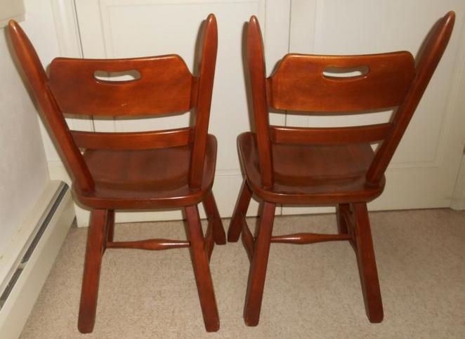 Charmant Item # 5    Cushman Colonial Of Bennington. VT Rock Maple Drop Leaf Table  W/ Matching Side And Arm Chairs. Swing Leg Drop Leaf Table Is 54u201dLx48.5u201dD  Open ...