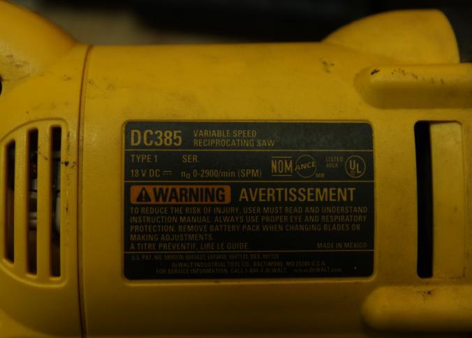 Dewalt cordless 18v jigsaw   hydraflow equipment.