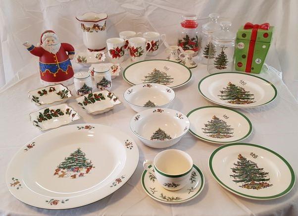 Item # 2 -- Spode England  Christmas Tree  The Salem China Co  Whimsical  Rosina China Co  Queens  English Fine Bone China Royal Sutherland Hu0026M English ... & Absolute Auctions u0026 Realty