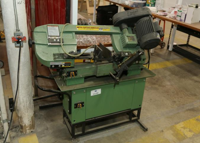 central machinery band saw. item # 83 -- central machinery metal cutting band saw 97009 with a 1 hp motor. pickup can be completed on both days.