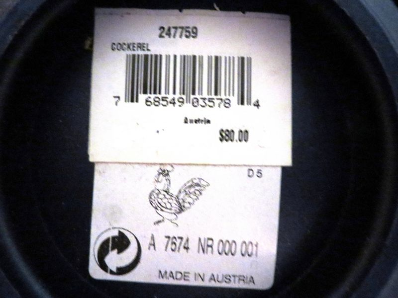16,5 x 7 x 26 cm Manche Noir et Blanc INOX Albert de Thiers 909000 M/énag/ère 24 pi/èces Toronto Acier Inoxydable