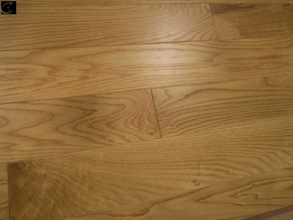 Item 199 White Oak Gloss Hardwood Flooring 3 4 X4 By Trout River Prefinished Cabin Grade Sold Square Foot