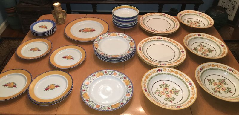Item # 11 -- Contemporary Dansk Fiance Fruit Discontinued pattern RARE dinner plates/bowls and Williams Sonoma made in Italy RARE stoneware bowls and dinner ... & Absolute Auctions u0026 Realty