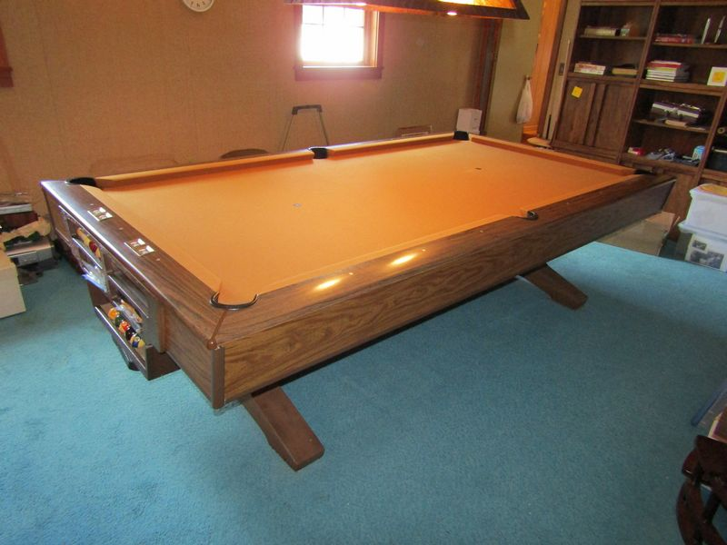 Absolute Auctions Realty - Brunswick pool table disassembly