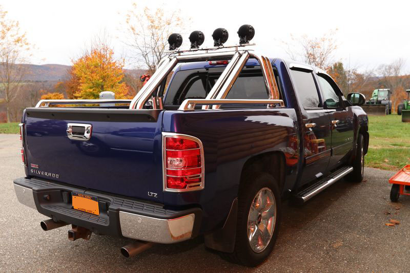Absolute auctions realty item 61f 2010 chevrolet silverado 1500 ltz quad cab pickup truck with leather interior navigation roll bar with light rack power steering aloadofball Choice Image