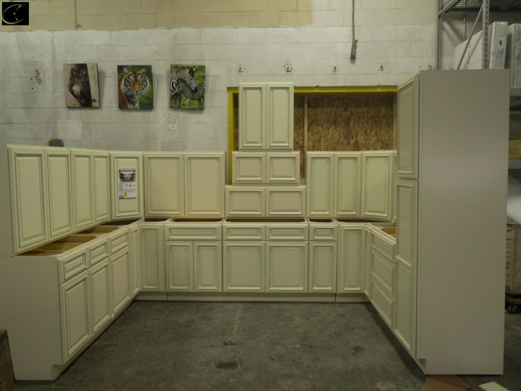 Item 3 Biltmore Pearl Kitchen Cabinet Set 10 X14 X10 Deluxe Layout By Feather Lodge 4 Solid Birch Face Frame Raised Panel With Applied Molding