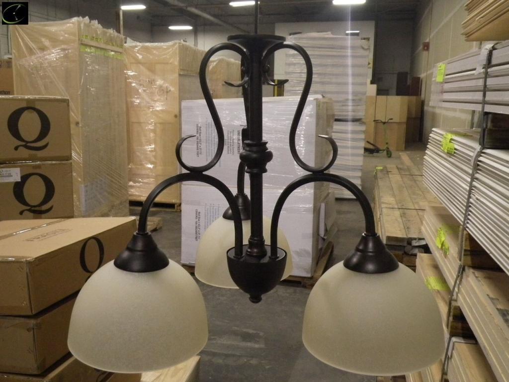 Old World//Toasted Sienna Quorum International 1120-811A1 Scavo CFL Light Kit