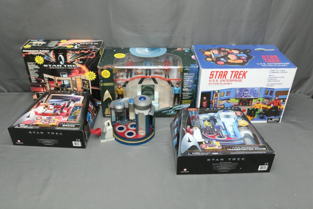 SEALED! Star Trek:NEXT GENERATION Figure Set of 7 with Matching Serial Numbers